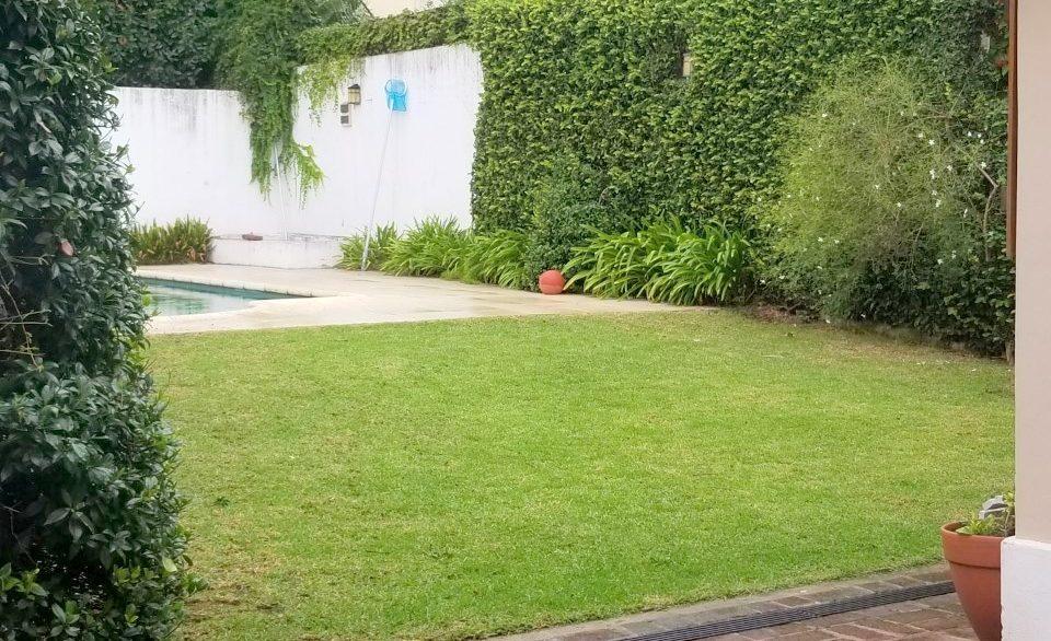 jardin con lluvia