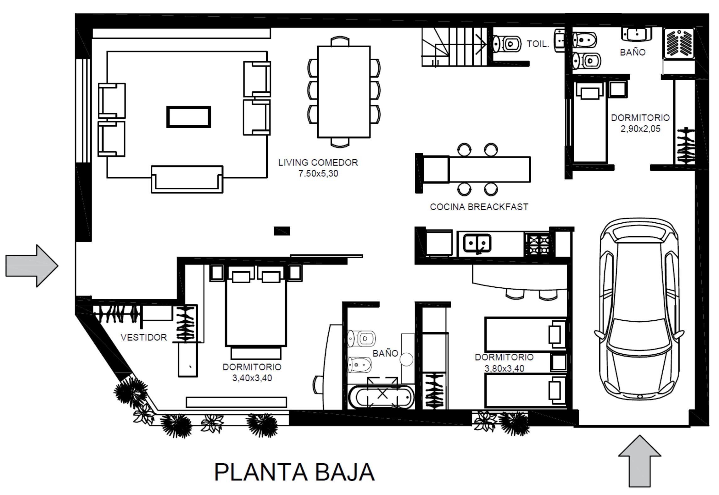 Exc. Casa de 4 Amb A Estrenar c/Terraza y Cochera – Libertad 1900